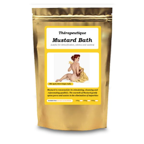 Mustard Bath Powder - Detox, helps edema, ascites