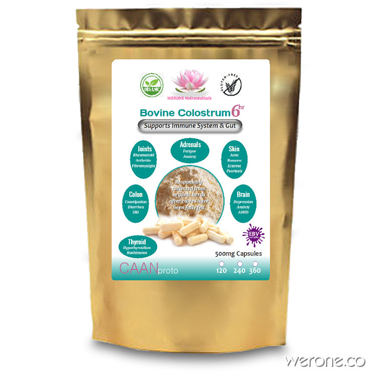 Bovine Colostrum Capsules - Heals Leaky Gut