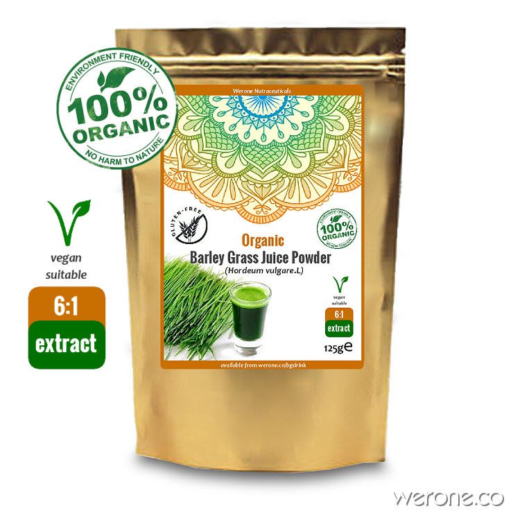 Organic Barley Grass Juice Powder (6:1 Raw Extract)