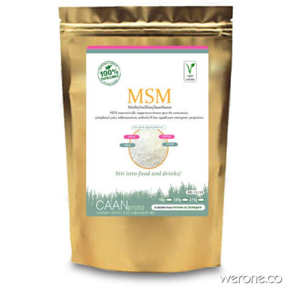 Msm Powder - sulphur for pain, mets and detox