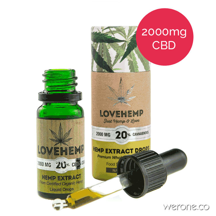 Love Hemp – Organic CBD Oil 10ml / 20% Highest Strength