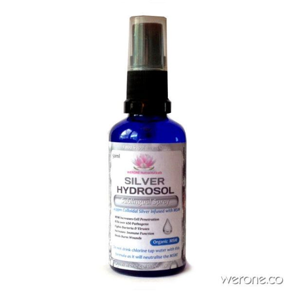 Silver Hydrosol with Organic MSM - 50ml Spray