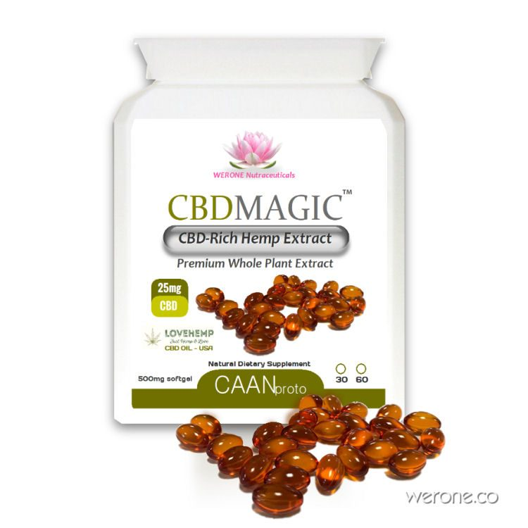 CBD Magic™ - Organic Cannabidiol 25mg Softgel Capsules